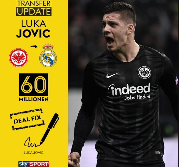 Breaking Real Madrid Sign Jovic Sky Sports Tribuna Com
