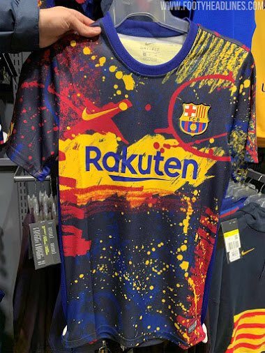 Leaked Barcelona S Brand New Festive Pre Match Kit Tribuna Com