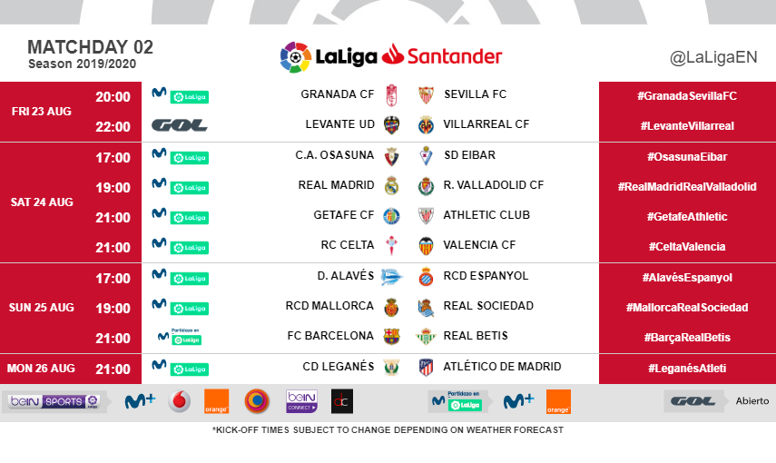 Real Sociedad Calendrier.Time And Exact Date Set For Real Madrid S First Match Of
