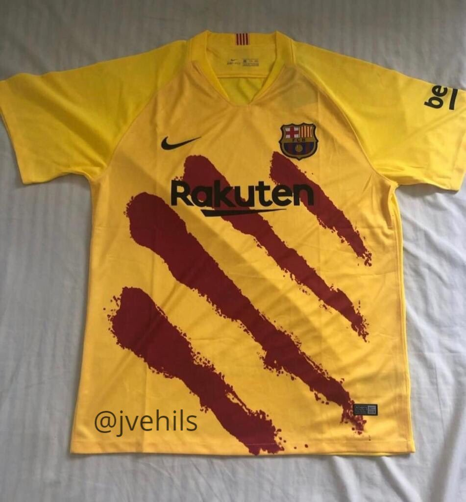 pretty nice a550a 236b2 First pictures of Barca's fourth kit for 2019/20 season get ...
