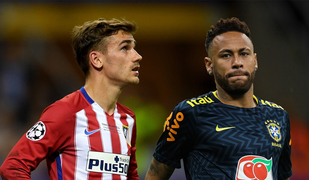 Image result for neymar and griezmann in barcelona jersey