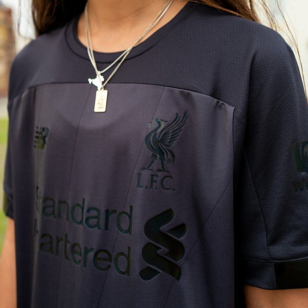 the latest 58192 3a436 Liverpool release gorgeous blackout shirt paying tribute to ...