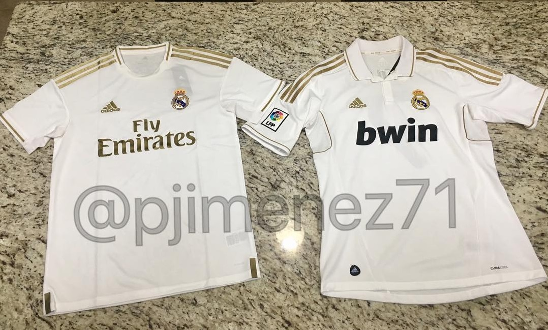 new styles 3e44e 37568 Leaked: New picture of Real Madrid white/gold 2019/2020 home ...