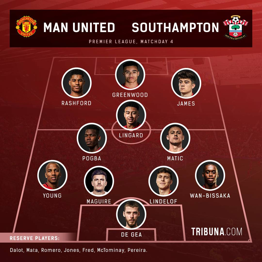 Select Your Favourite United S Starting Xi Vs Southampton From 2 Options Below Leave Your Choice In The Comments And Explain Your Pick Tribuna Com